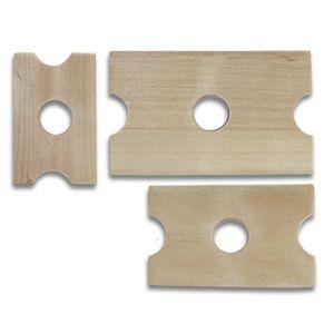 Set cutite patrate din lemn de par 3 buc